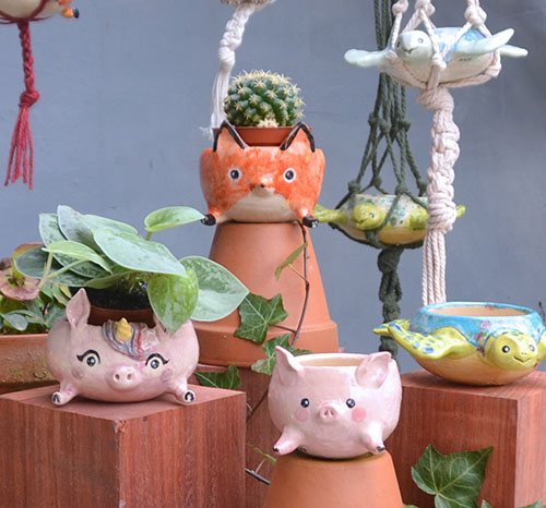 Planters with Paws